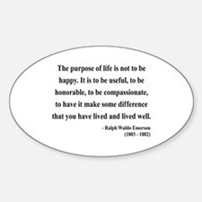 Ralph Waldo Emerson 17 Oval Decal