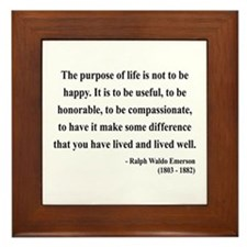 Ralph Waldo Emerson 17 Framed Tile