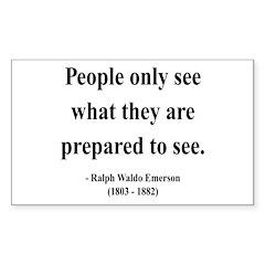 Ralph Waldo Emerson 20 Rectangle Decal