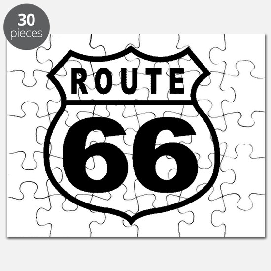 Route 66 Logo from antique Printing catalog Puzzle