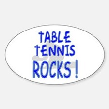 Table Tennis Rocks ! Oval Decal