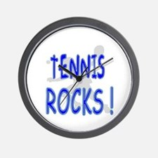 Tennis Rocks ! Wall Clock