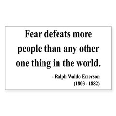 Ralph Waldo Emerson 23 Rectangle Decal