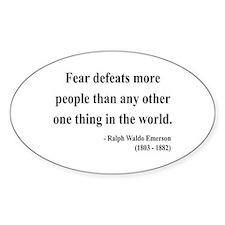 Ralph Waldo Emerson 23 Oval Decal