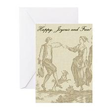 Happy, Joyous & Free Greeting Cards (Pk of 10)