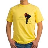 Kansas jayhawks Mens Classic Yellow T-Shirts