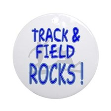 Track & Field Rocks ! Ornament (Round)