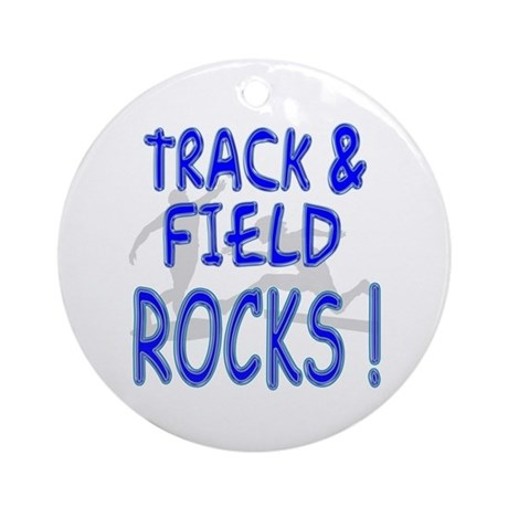 Track & Field Rocks ! Ornament (Round)