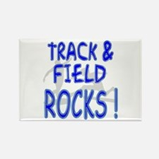 Track & Field Rocks ! Rectangle Magnet