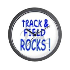 Track & Field Rocks ! Wall Clock