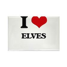 I love Elves Magnets