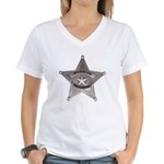 Sovereign Individual Badge on Women's V-Neck T-Shi