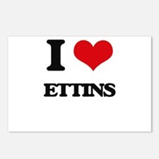 I love Ettins Postcards (Package of 8)