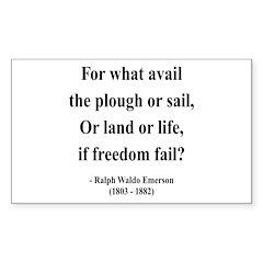 Ralph Waldo Emerson 24 Rectangle Decal