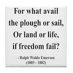 Ralph Waldo Emerson 24 Tile Coaster