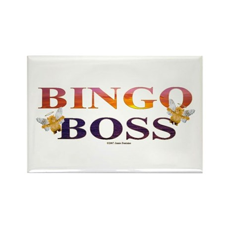 Bingo Boss Engrave MT Rectangle Magnet (100 pack)