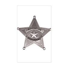 Sovereign Individual Badge on Sticker (Rectangular