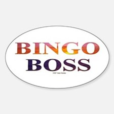 Bingo Boss Engrave MT Oval Decal