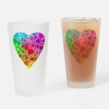 Colorful Hearts Drinking Glass