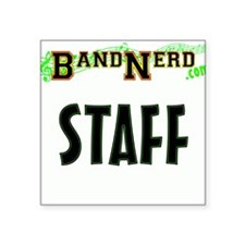 "BandNerd.com Staff Square Sticker 3"" x 3"""