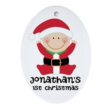 Santa Claus 1st Christmas Personalized Ornament (O