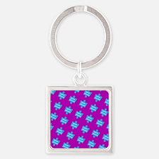 Autism Altruism Purple Blue Puzzle Keychains