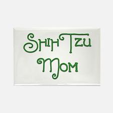 Shih Tzu Mom 2 Rectangle Magnet