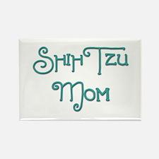 Shih Tzu Mom 3 Rectangle Magnet