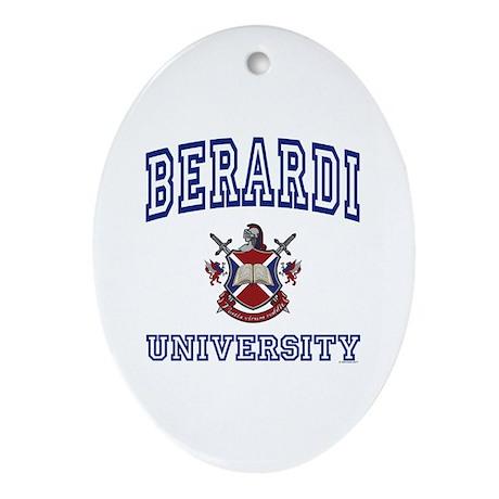 BERARDI University Oval Ornament