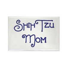 Shih Tzu Mom 4 Rectangle Magnet