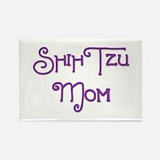Shih Tzu Mom 5 Rectangle Magnet