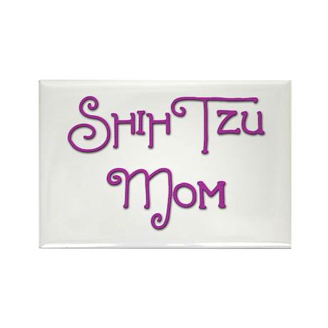 Shih Tzu Mom 6 Rectangle Magnet (10 pack)