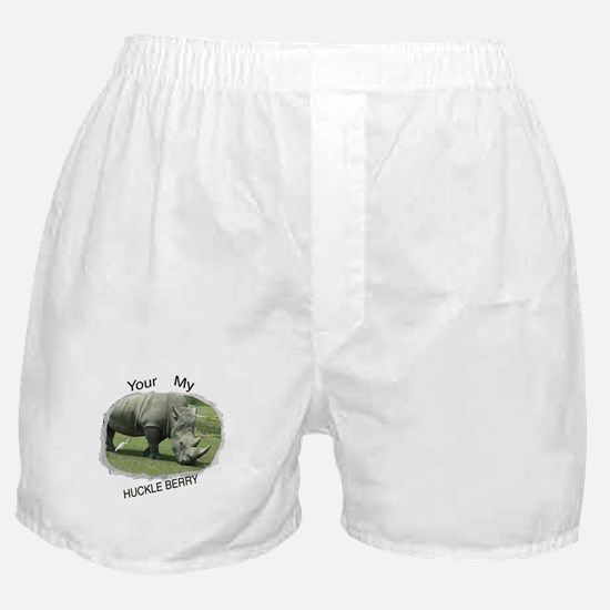 Rhino and Bird Boxer Shorts
