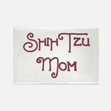 Shih Tzu Mom 7 Rectangle Magnet