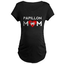 Papillon Mom Maternity T-Shirt