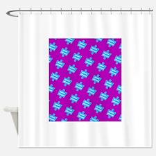 Autism Altruism Purple Blue Puzzle Shower Curtain