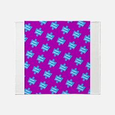 Autism Altruism Purple Blue Puzzle f Throw Blanket