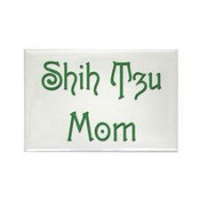 Shih Tzu Mom 13 Rectangle Magnet