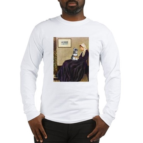 Whistlers Mother & Schnauzer Long Sleeve T-Shirt