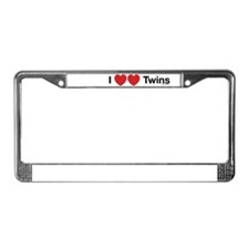 I Love Twins License Plate Frame