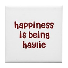 happiness is being Haylie Tile Coaster
