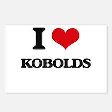 I love Kobolds Postcards (Package of 8)