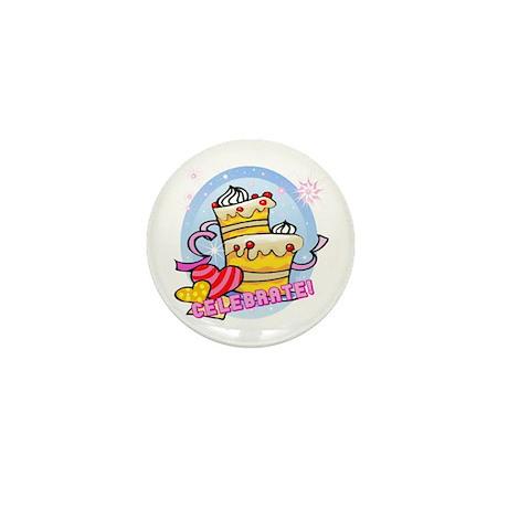 Vanilla Cream Cake Celebration Mini Button (100 pa