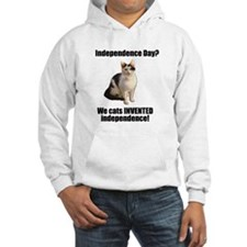 Cats invented independence Hoodie
