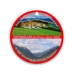 Peace in Switzerland Ornament (Round)
