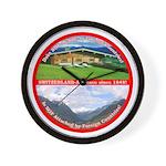 Peace in Switzerland Wall Clock