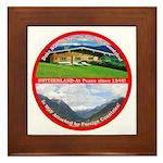 Peace in Switzerland Framed Tile