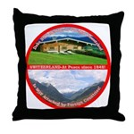 Peace in Switzerland Throw Pillow