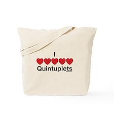 I Love Quintuplets Tote Bag