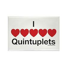 I Love Quintuplets Rectangle Magnet